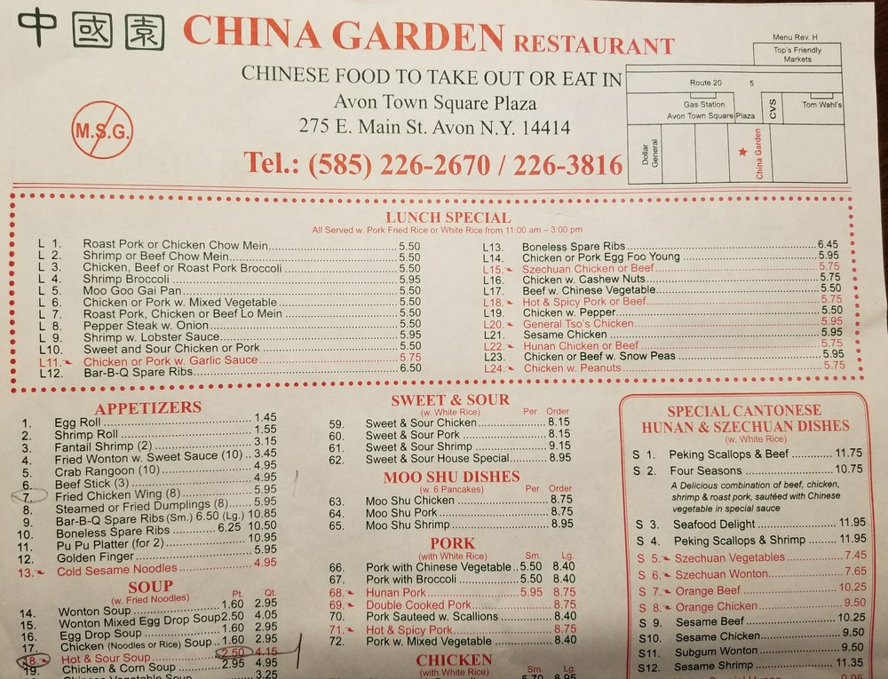 Chinese Restaurant In Honeoye Ny