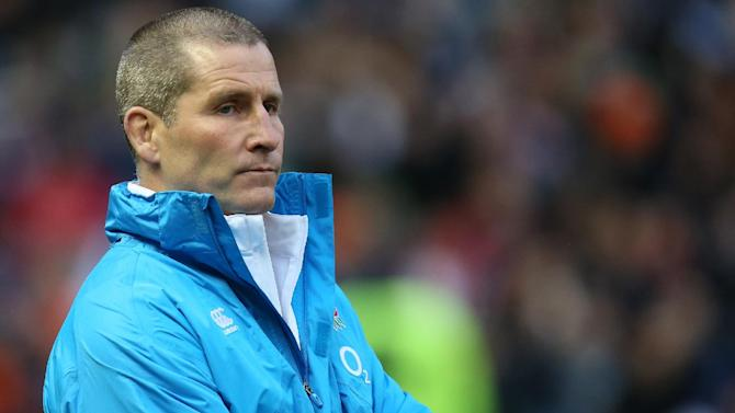 England coach Stuart Lancaster looks on ahead of the Six Nations rugby union international match against Scotland at Murrayfield, Edinburgh, Scotland, Saturday Feb. 8, 2014