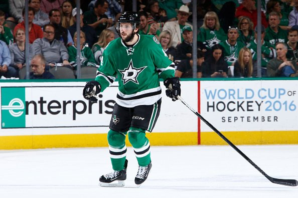 DALLAS, TX - APRIL 22: Jason Demers #4 of the Dallas Stars skates against the Minnesota Wild in Game Five of the Western Conference First Round during the 2016 NHL Stanley Cup Playoffs at the American Airlines Center on April 22, 2016 in Dallas, Texas. (Photo by Glenn James/NHLI via Getty Images)