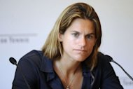 Former world number one Amelie Mauresmo speaks during a press conference Roland-Garros stadium in Paris. Mauresmo expressed her pride at being appointed France's Fed Cup captain on Friday but warned that she could not be expected to perform instant miracles with the team