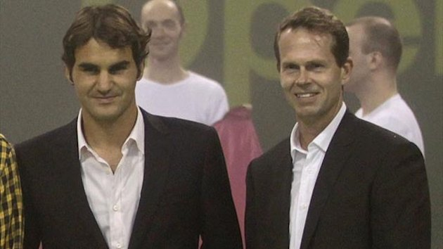Roger Federer and Stefan Edberg in 2012 (Reuters)