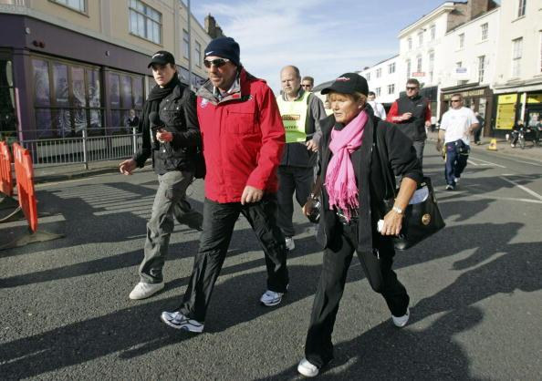 TAUNTON, UNITED KINGDOM - OCTOBER 10:  Former cricketer Sir Ian Botham sets off on his 12th fundraising expedition for charity on October 10, 2008 in Taunton, England. Beefy's Great British Walk - Aga