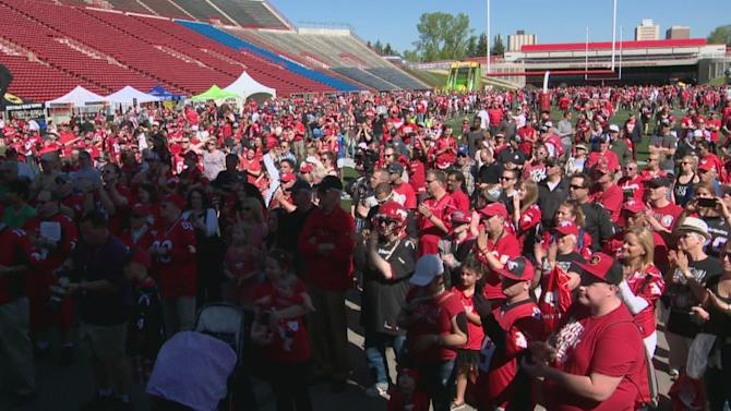 Calgary Stampeders Fanfest brings out biggest crowd yet