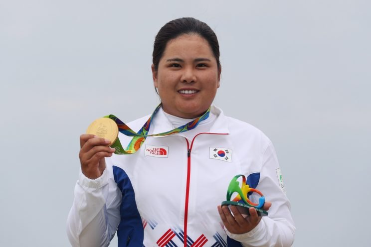 Inbee Park locked up the women's golf gold medal in a rout. (Getty Images)