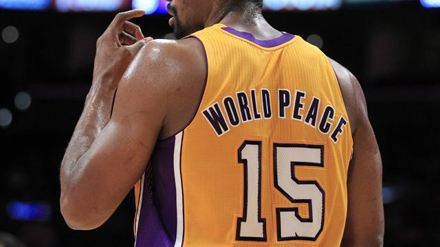 Basketball - Lakers' World Peace banned for one game