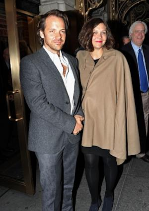 Peter Sarsgaard and wife Maggie Gyllenhaal attend the Broadway opening night of 'Death Of A Salesman' at the Barrymore Theatre in New York City on March 15, 2012  -- Getty Images
