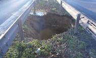 Sinkhole Keeps M2 Closed Over Safety Fears