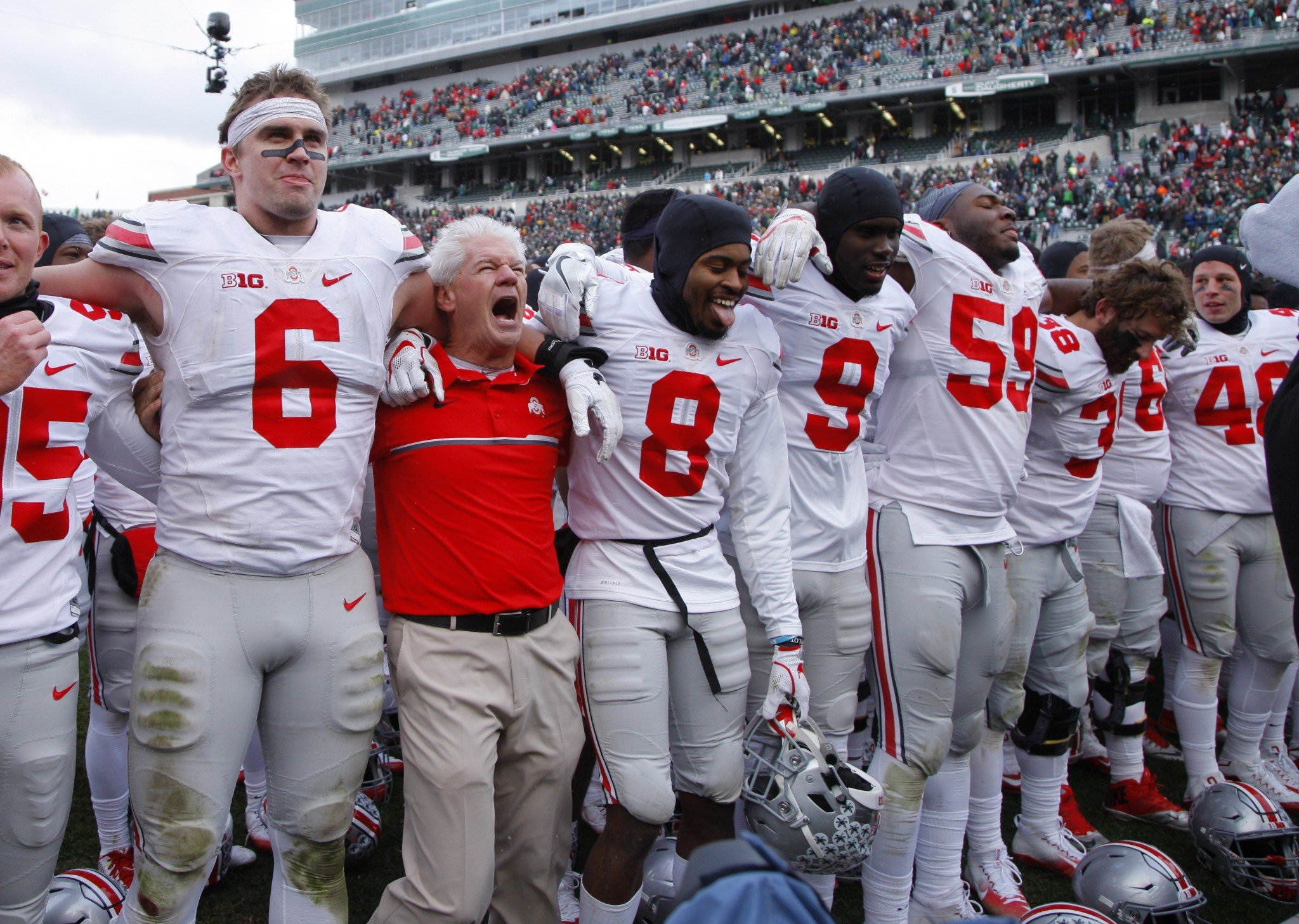 Ohio State is ranked No. 2 heading into Saturday's game against No. 3 Michigan. (AP Photo/Al Goldis)