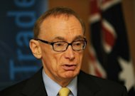 Australian Foreign Minister Bob Carr, seen here speaking at a press conference in Sydney, in May. Australia on Monday announced fresh sanctions against Syria restricting or prohibiting trade in oil and financial services to ramp up pressure on President Bashar al-Assad's regime to end bloodshed