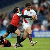 Chris Brightwell, right, was on target for England against Kenya