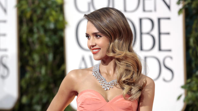 Actress Jessica Alba at the 70th annual Golden Globe Awards in Beverly Hills