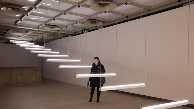 International Artists Exhibit Their Work As Part Of The Hayward Gallery's Light Show exhibition
