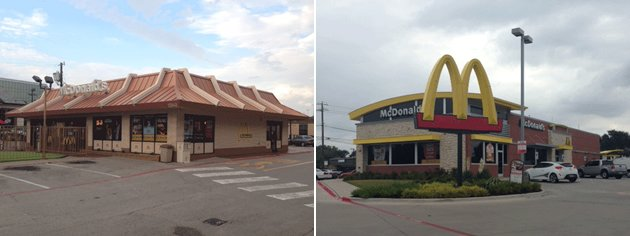 Burger giants roll out remodels but are you noticing for Mcdonalds exterior design