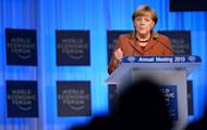 German Chancellor Angela Merkel delivers a speech during a session of the World Economic Forum on January 24, 2013 at the Swiss resort of Davos. Merkel on Thursday expressed concern about Japany's foreign exchange policy, after the central bank bowed to political pressure and loosened monetary policy