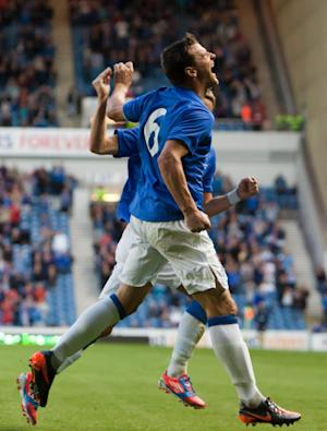 Rangers' Lee McCulloch celebrates scoring his side's first goal