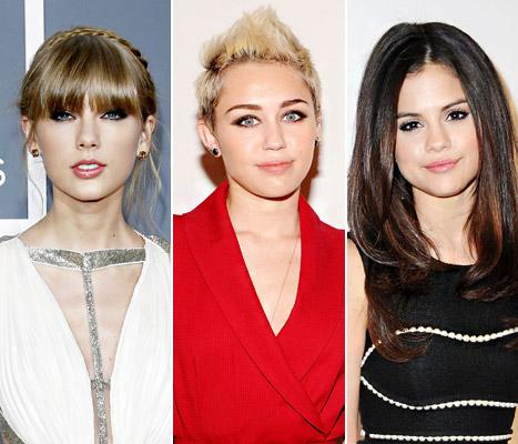 "Miley Cyrus Slams Selena Gomez and Taylor Swift Fans Who Send Her Death Threats: We're ""All Friends"""