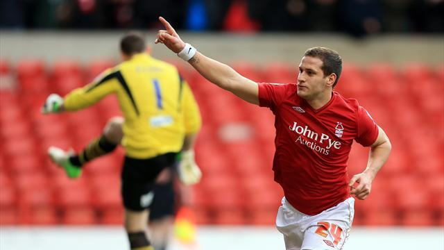 Championship - Sharp scores brace as Forest down Leeds
