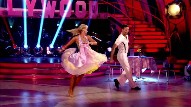 Michael Vaughan performs with dance partner Natalie on 'Strictly Come Dancing' Shown on BBC1 HD  England - 23.10.12 Supplied by WENN.com  WENN does not claim any ownership including but not limited to