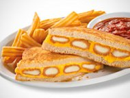 Denny's Fried Cheese Melt with a side of fries has 1,260 calories and 21 grams of saturated fat.
