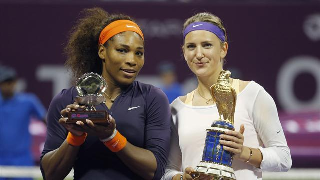 Tennis - Williams and Azarenka punished over Dubai withdrawals