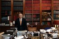 Greek President Carolos Papoulias in his office in Athens. Papoulias has summoned the top three parties from May 6 elections to power-sharing talks on Sunday, his office says