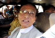 Khin Maung Swe, leader of the National Democratic Force (NDF), pictured after meeting with Myanmar democracy icon Aung San Suu Kyi in Yangon, in 2010. Maung Swe's relations with Suu Kyi soured dramatically when he disagreed with her party's decision not to contest the 2010 election
