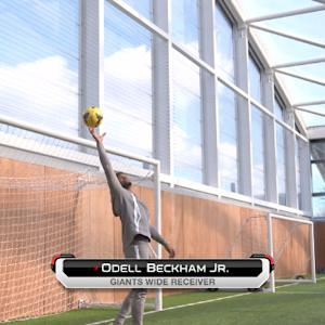 Odell Beckham and NFL stars train with Barclays Premier League club Tottenham Hotspur