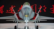 A model of a Chinese J-31 stealth fighter on display at the Airshow China 2014 in Zhuhai, south China's Guangdong province, on November 12, 2014