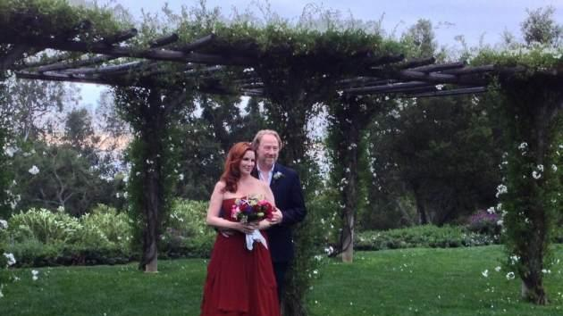 Melissa Gilbert and Timothy Busfield seen on their wedding day on April 24, 2013 -- Twitter