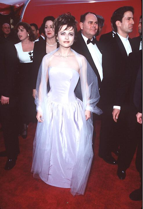 Helena in a satin gown