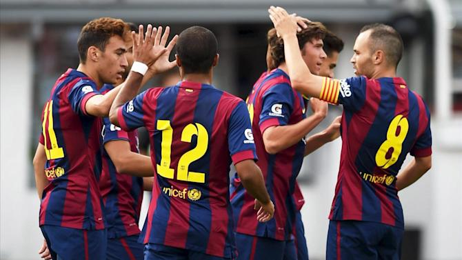Liga - Barcelona hit six in pre-season stroll in Finland