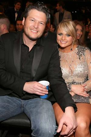 Blake Shelton and Miranda Lambert spotted at the 55th Annual Grammy Awards at Staples Center on February 10, 2013 -- Getty Images