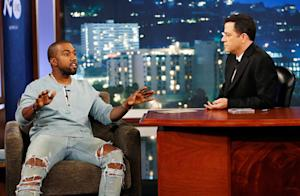 "Kanye West Appears on Jimmy Kimmel Live, Says Feud ""Took It Back to High School"""