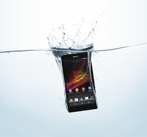 Great news for everyone - except perhaps mobile phone insurance companies - Sony has unveiled a waterproof smartphone. (Image: Sony)