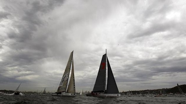 2011 SAILING Supermaxi yachts Wild Oats XI and Investec Loyal