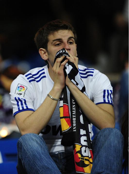 A Real Madrid Supporter Reacts AFP/Getty Images