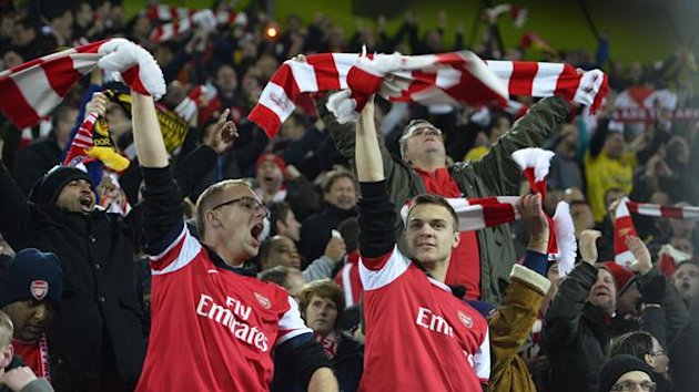 Arsenal fans (AFP)