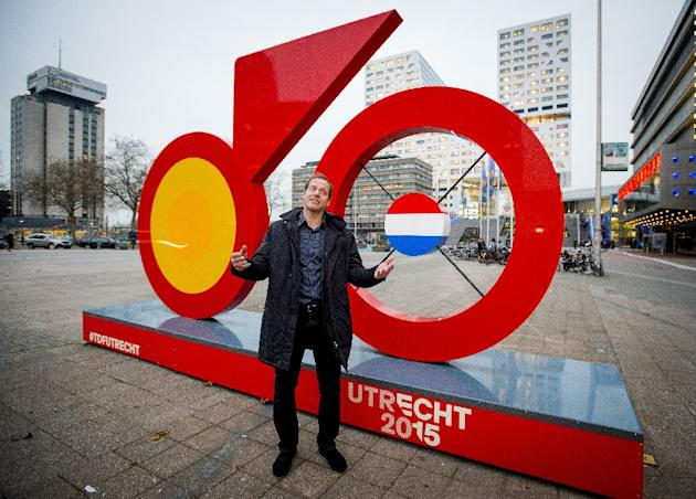 Tour de France director Christian Prudhomme, poses during his visit in Utrecht, the opening stage of the 2015 Tour de France, on November 26, 2014