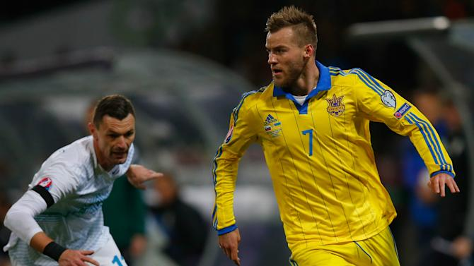 Slovenia 1-1 Ukraine (1-3 Agg.): Visitors end playoff curse to reach Euro 2016