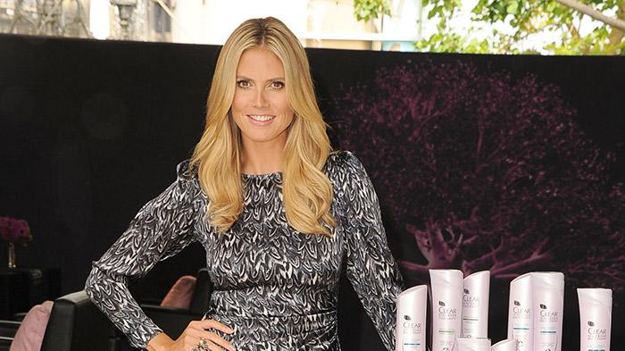 Heidi Klum Appearance For Clear Scalp & Hair Beauty Therapy