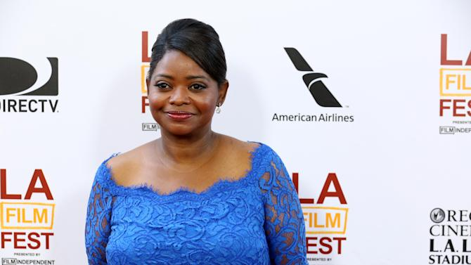 "FILE - This June 17, 2013 file photo shows actress Octavia Spencer at The LA Film Festival's gala screening of ""Fruitvale Station"" in Los Angeles. The film, released in select theaters last week and opening wide next weekend, tells the story of Oscar Grant, an unarmed black man shot to death by a white police officer in a San Francisco train station on New Year's Day, 2009. The officer was convicted of involuntary manslaughter and served 11 months in prison. It was Spencer's first high-profile role since her Academy Award-winning role as a feisty maid in the racial dramedy ""The Help."" (Photo by Alexandra Wyman/Invision/AP, File)"