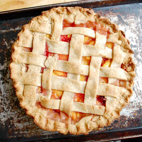Lattice Top Peach Pie