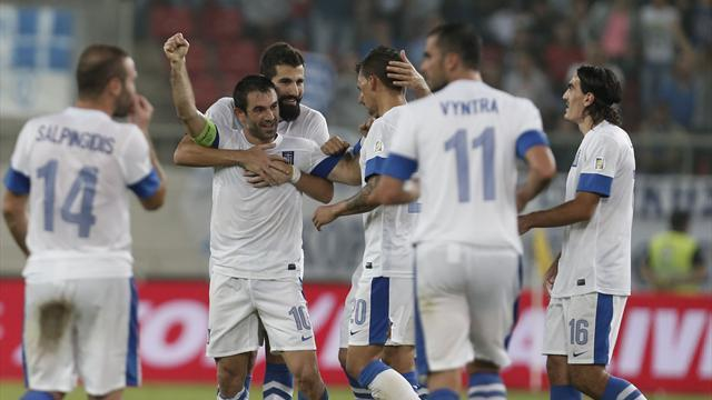 World Cup - Greece put three past woeful Romania