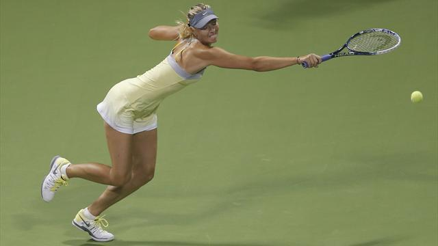 Tennis - Sharapova extends Doha streak, Robson sent packing
