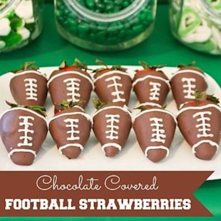 Add a touch of chocolate to your next football viewing party!