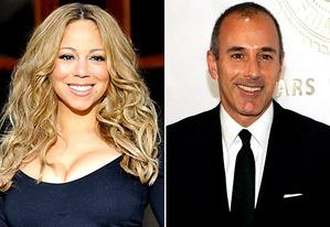 Mariah Carey; Matt Lauer   Photo Credits: Fadel Senna/AFP/GettyImages; Larry Busacca/Getty Images