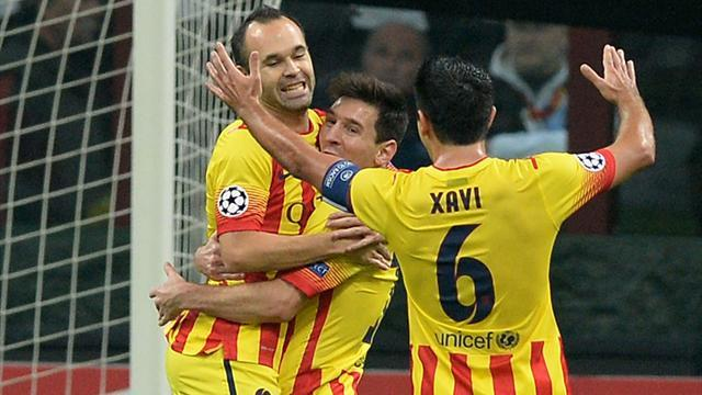 Champions League - Messi strikes but Milan hold Barca