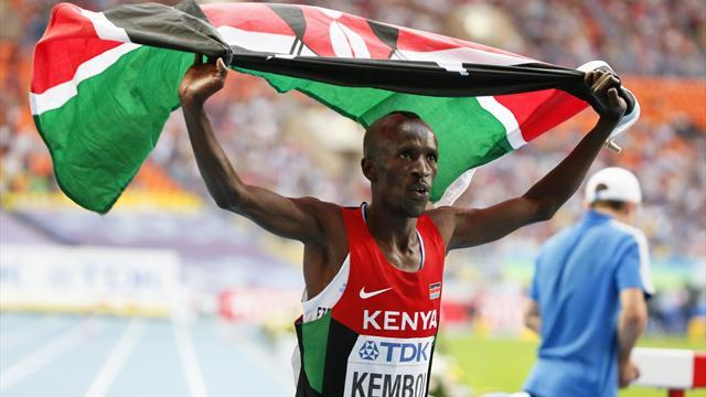 World Championships - Kenya's Kemboi lands world steeplechase hat-trick