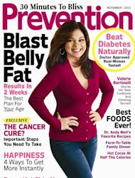 Valerie Bertinelli on the cover of Prevention magazine (Nov. 2012) -- Prevention Magazine
