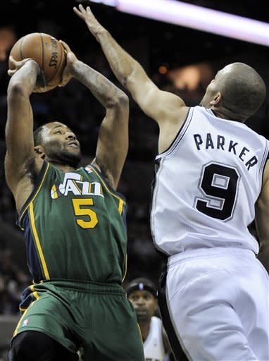 Parker returns and Spurs top Jazz 104-97 in OT